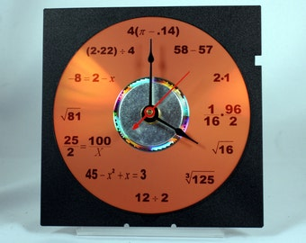Math Equation Clock (Orange)