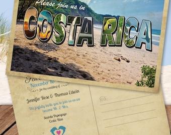 Costa Rica Destination Save the Date Postcard