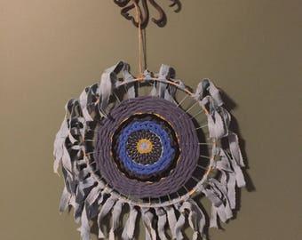 Shamanic Evil Eye Textile Woven Hanging