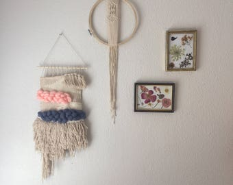 Unique Macrame in Embroidery Hoop