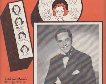 Ten Pretty Girls 1937 Vintage Sheet Music Garwood Van Will Grosz Jimmy Kennedy