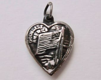 Puffy Heart Charm Sterling