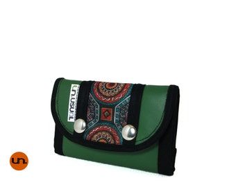 Limited Edition Mandala Vegan Leather Wallet for Man for Woman Trifold Wallet Slim Wallet Small Wallet with Coin Pocket - UNUSUAL Wallet