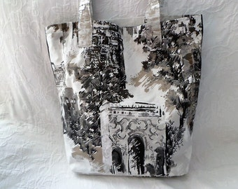 """printed shopping bag: """"Roofs of Montmartre"""""""