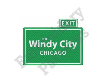 The Windy City Chicago - Machine Embroidery Design