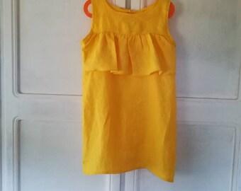 """Linen dress """"Little Sunshine"""""""