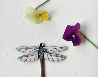 Dragonfly Brooch Blue Tones