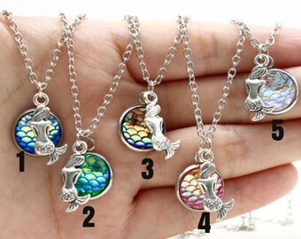 Mermaid Necklace, Mermaid Scale Necklace, Mermaid Jewelry, Scale Jewelry, Jewelry for her, Ocean Jewelry, Ocean Necklace