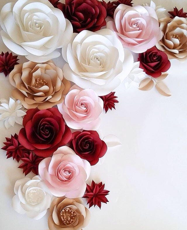 Paper flower decor large paper flowers wedding flower wall zoom mightylinksfo
