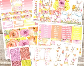 SOME BUNNY LOVES You// Planner Stickers Individual Sheets sized for the Erin Condren Life Planner