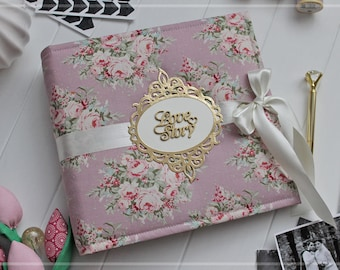 Wedding Scrapbook Album, 5x7 Photo Album, Wedding Photo Album, Bridal Shower Guest Book, Personalised Photo Album, Engagement Photo Album