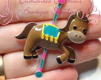 """2"""" Adorable Enamel Circus Carousel Horse"""
