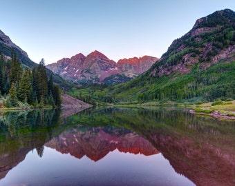 Maroon Bells - First Light - Aspen, Colorado