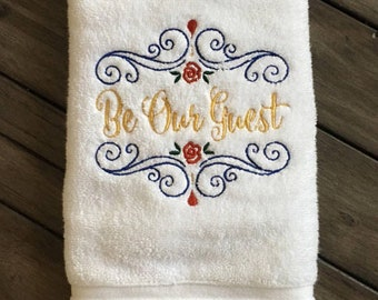 Be Our Guest Hand Towel, Guest Towel