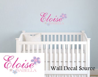 Name Wall Decals - Girls Wall Decals - Monogram Decals - Wall Decals With Name