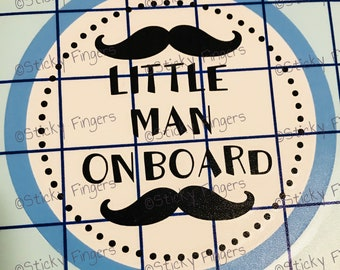 Little Man On Board Decal