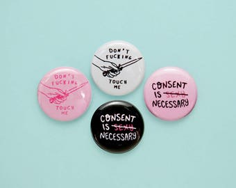 "1"" CONSENT button pack"