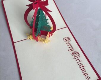 3# Christmas Tree Pop Up Card, Pop-Up Card, 3D Card, Christmas Card, Blank Card