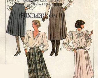 Simplicity 7814 Sewing Pattern, Misses Skirt in Two Lengths, Size 14, Uncut Vintage Pattern