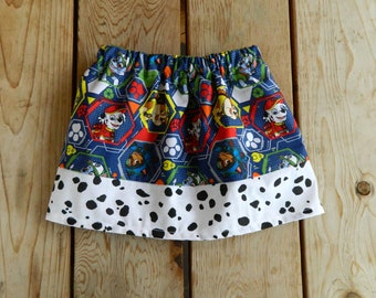 Paw Patrol with Dalmation Print Themed Infant/Toddler Skirt