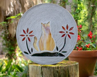 Orange Tabby Kitty Cat Stepping Stone #805