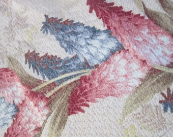 Vintage Barkcloth Fabric Floral Barkcloth Curtains Pink Blue Floral Drapes  Lined Bark Cloth Curtain Excellent Condition 1930-1940 Drapes