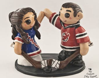 Hockey Cake Topper Bride and Groom