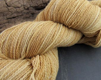 100g Onion Brown Dyed Natural Dye Laceweight Wool Yarn