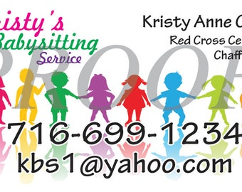 Babysitting business card crayons colorful fun business fun babysitting card colorful fun business card design for babysitters and child care workers colourmoves