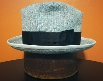 Stitched Cloth Hat - 7 3/8 - 1920s Style