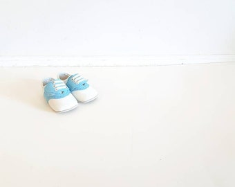 Vintage Blue and White Baby Shoes