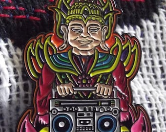 Chris Dyer Boombox Buddha Pin