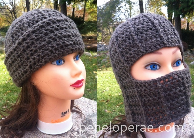 Crochet Fold Down Hat Pattern