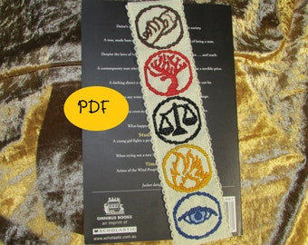 Divergent Faction Logos Cross Stitch Pattern - Bookmark (PDF/Digital File)