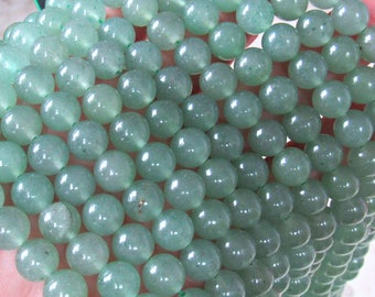 8mm Aventurine beads, 8mm gemstone beads, full strand, Aquality, Green aventurine stones, natural aventurine, round beads, jewelry supplies