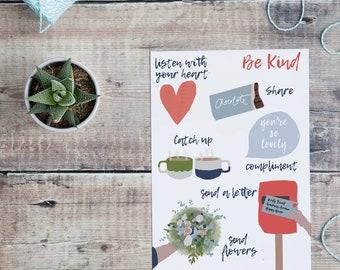 Be Kind A5 Print