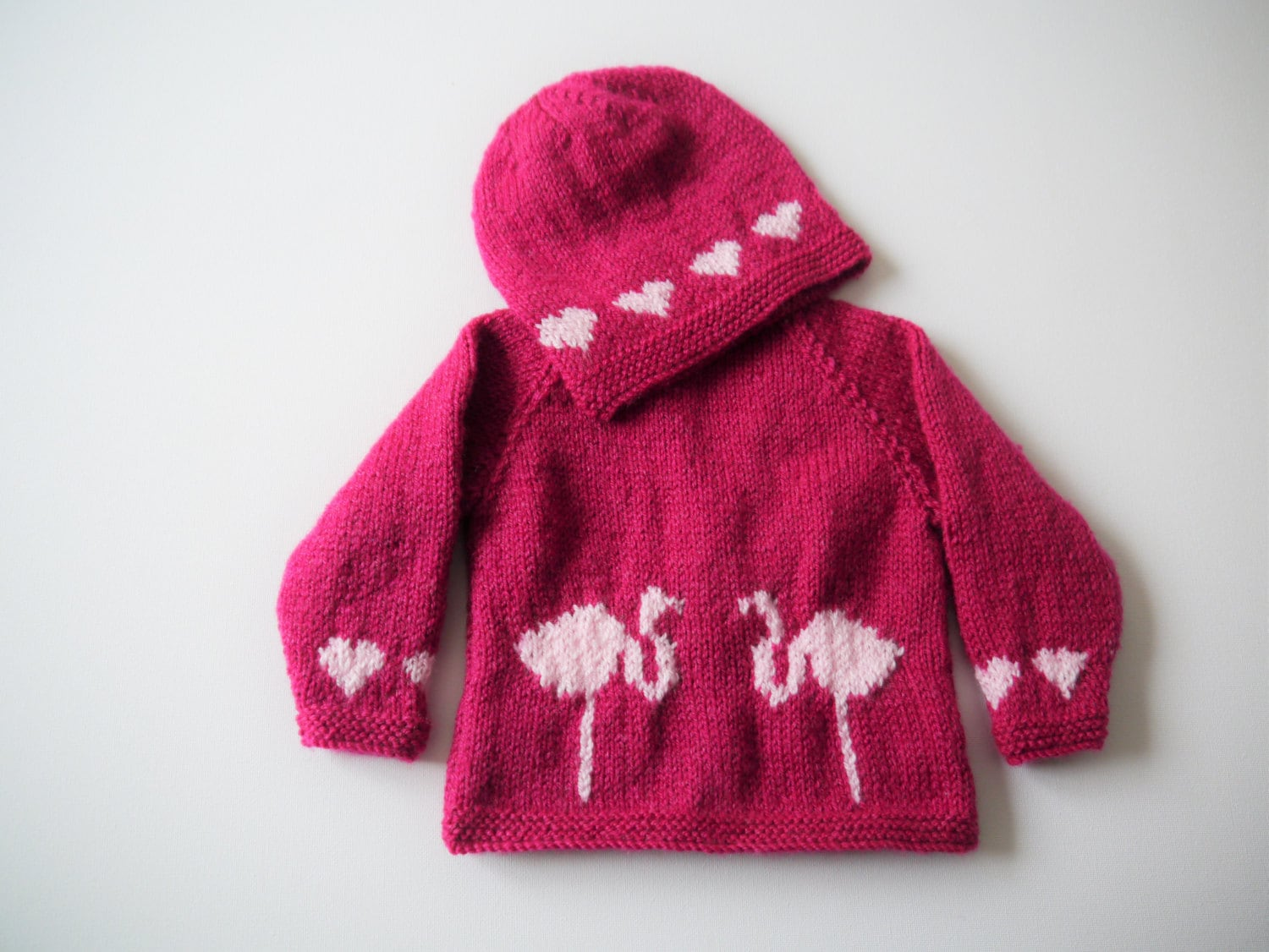 Baby Knitting Pattern for Jacket and Hat, Baby Cardigan and Hat ...