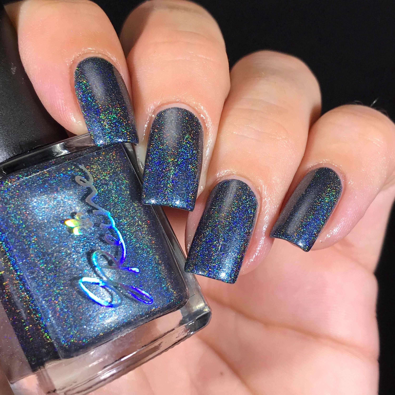 Da Dell - Holo Dark Navy Blue Linear Holographic Nail Polish from ...