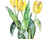 Tulip Painting - Print fr...