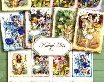 Printable pictures, elves, ATC, card making, shabby chic, ephemera, trading cards, gift tags, jewelry cards, artist cards, vintage,collage