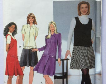 Simplicity sewing pattern 7368 - Misses' petite dress and jumper - size 4-6-8