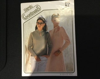 Wendy Colour Co-ordinates Vintage DK 2170 Ladies Sweater and Skirt Knitting Pattern