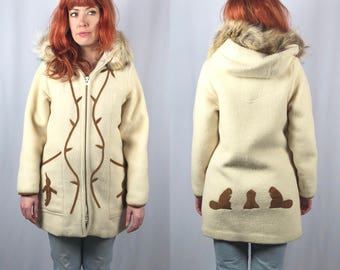 Vintage Inuit Wool Parka Size Small