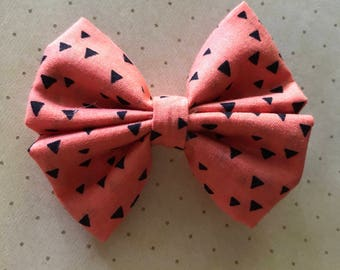 Orange/Black Halloween Bow Headbands & Clips