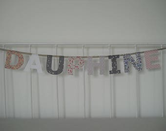 Garland fabric name 8 letters Dauphine
