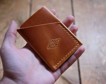 Leather card holder, Leather card case, minimalist wallet, Men's wallet, avancorpo, slim wallet, leather card case, shell cordovan toscana