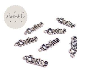 Las Vegas Casino charms 24x8mm silver 20 / travel-A30