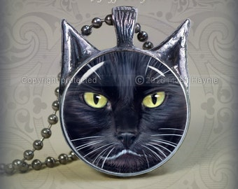 BW10 Black and White Cat pendant