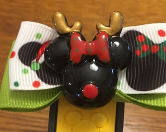 Minnie Christmas Magic Band Bow