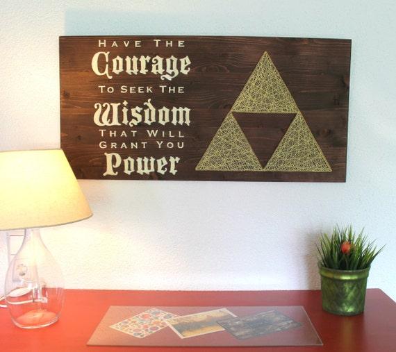 The Legend of Zelda Triforce String Art Sign Wall Art Decor